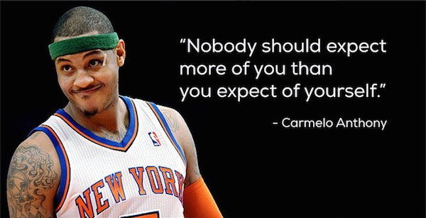 workout supplements sports quotes basketball carmelo anthony