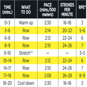 best rowing machine workout for weight loss