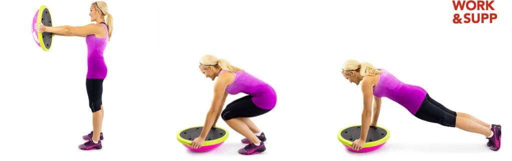 best workout bosu exercises forearm side plank bridge mountain burpee