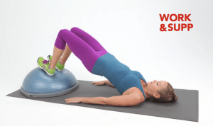 best workout bosu exercises forearm side plank bridge