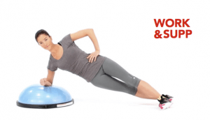best workout bosu exercises forearm side plank