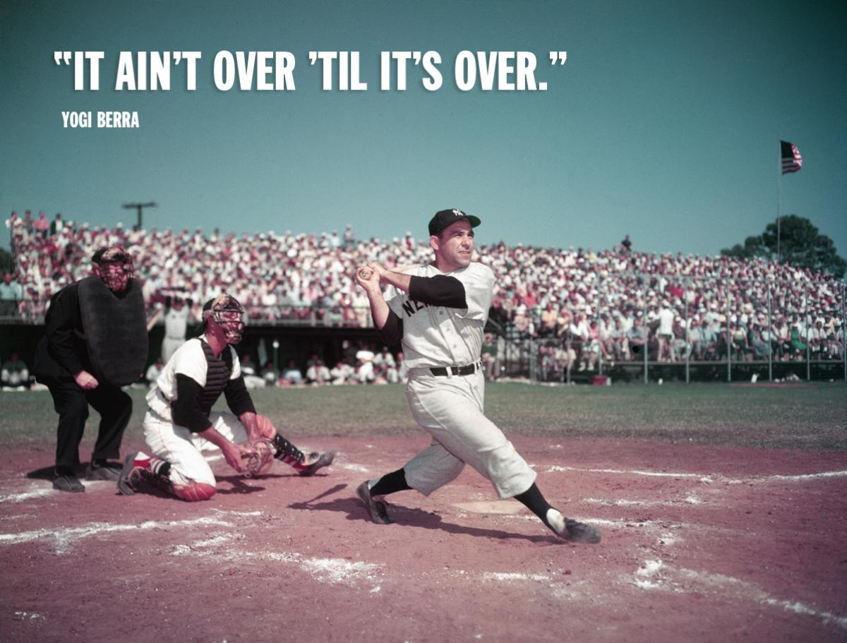 workout supplements sports quotes yogi berra it aint over